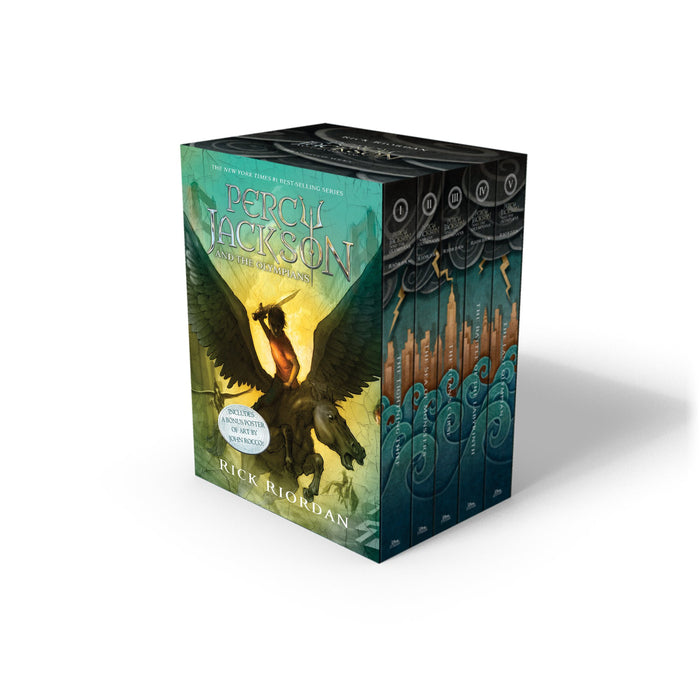 Percy Jackson And The Olympians 5 Book Paperback Boxed Set by Rick Riordan