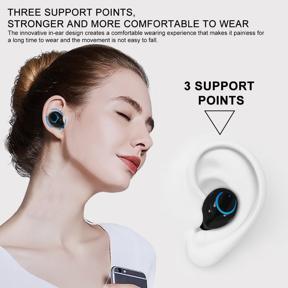 Wireless Bluetooth Earphones In-Ear Wireless Headphones Stereo Earbuds Sports Headset TWS With Mic For xiaomi samsung iphone