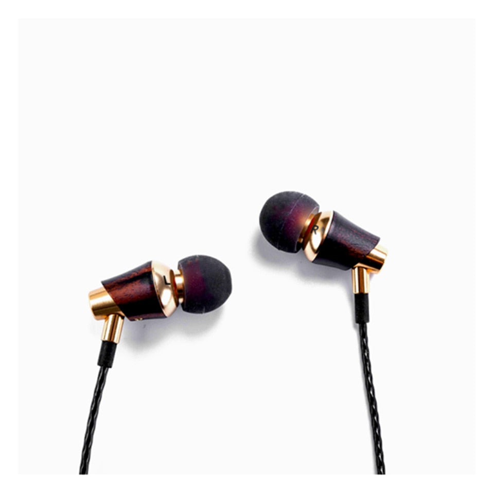 SIVGA M005 Rose Wood HI-FI in-Ear Earphone Earbuds Earpones with Remote & Mic for Apple iOS and Android Phone Xiaomi Xiaomi