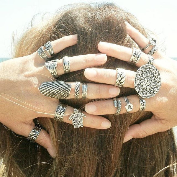 Gypsy Boho Ring Jewelry - HappyGoLicky Jewelry