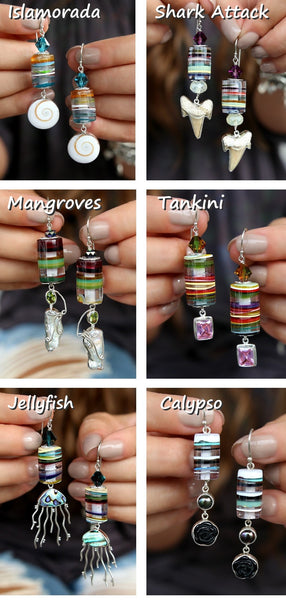 Surfite Surfboard Resin Jewelry Collection  by HappyGoLicky