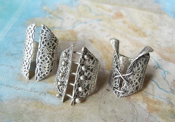 Barbell Corset Ring - HappyGoLicky Jewelry