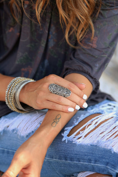 Chunky Boho Ring - HappyGoLicky Jewelry