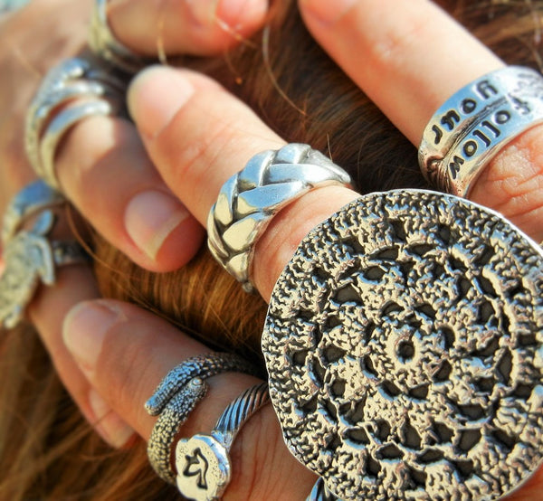 Boho Jewelry Bohemian Mandala Ring - HappyGoLicky Jewelry