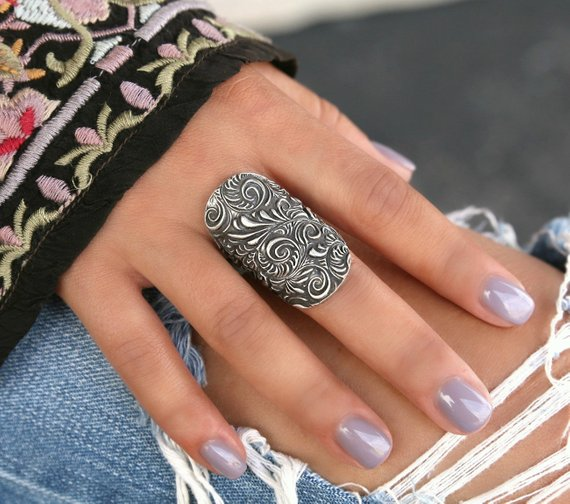 Chunky Tall Boho Ring - HappyGoLicky Jewelry