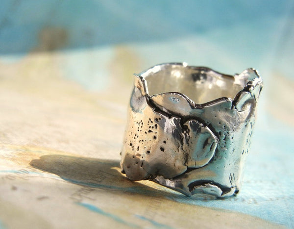 Sterling Silver Chunky Ring - HappyGoLicky Jewelry