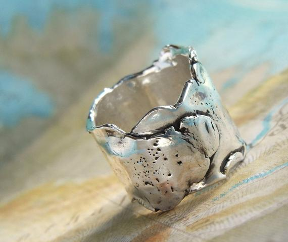 Chunky Wide Ring - HappyGoLicky Jewelry
