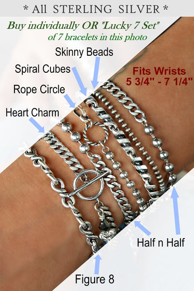 boho bracelet stack by HappyGoLicky sterling silver jewelry