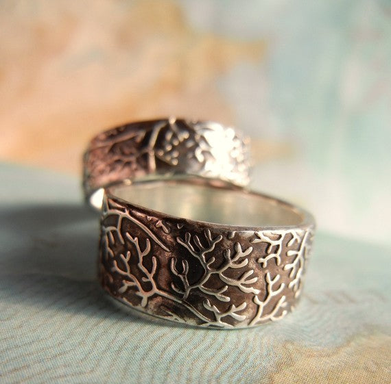 Coral Reef Wide Band Ring