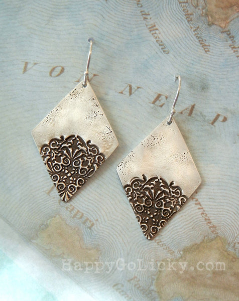 Boho Sterling Silver Earrings