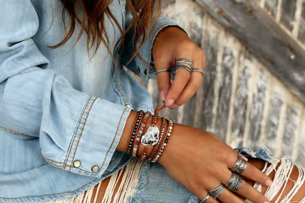 Best Bohemian Jewelry Brands HappyGoLicky Wrap Bracelets