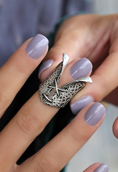 Lace Up Corset Ring