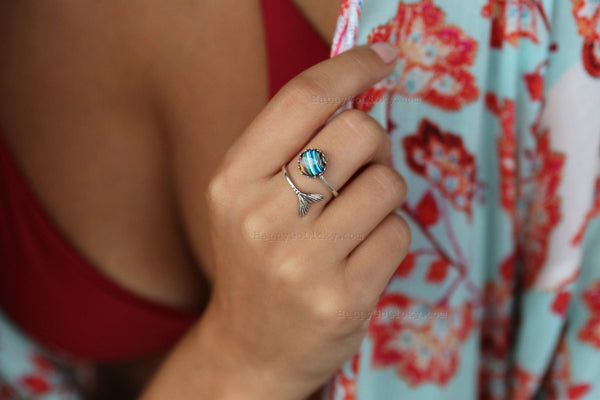 Recycled Surfboard Jewelry Ring - HappyGoLicky Jewelry