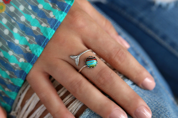 Recycled Reclaimed Eco Friendly Jewelry Ring by HappyGoLicky