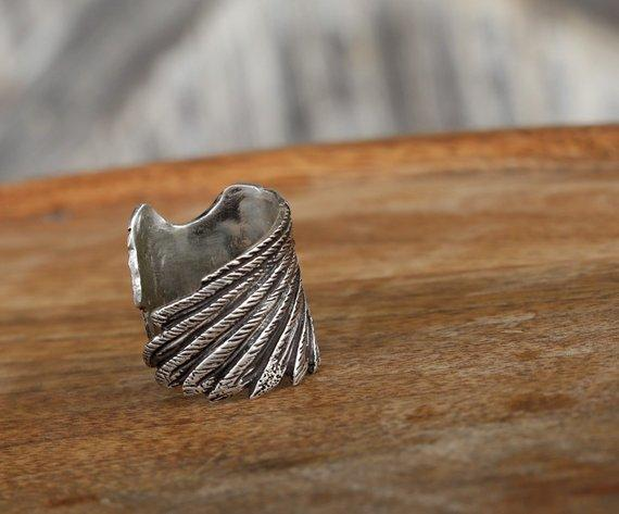 Adjustable Boho Sterling Silver Ring - HappyGoLicky Jewelry