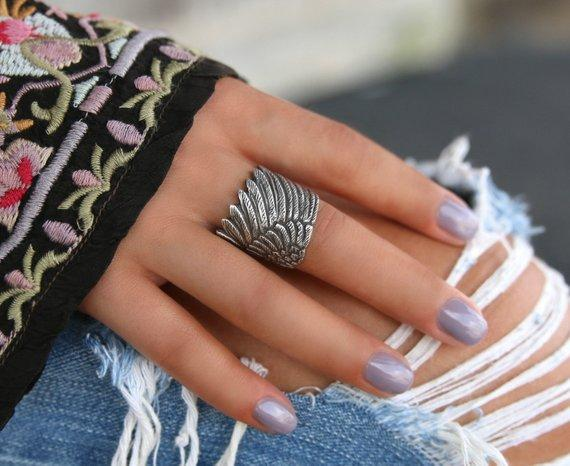 Handmade Sterling Silver Boho Adjustable Ring - HappyGoLicky Jewelry