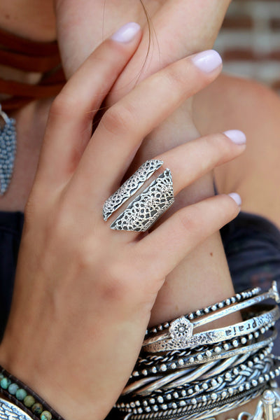 Corset Statement Ring - HappyGoLicky Jewelry
