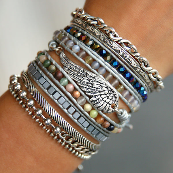 Angel Wing Jewelry Sterling Silver Bracelet by HappyGoLicky Jewelry