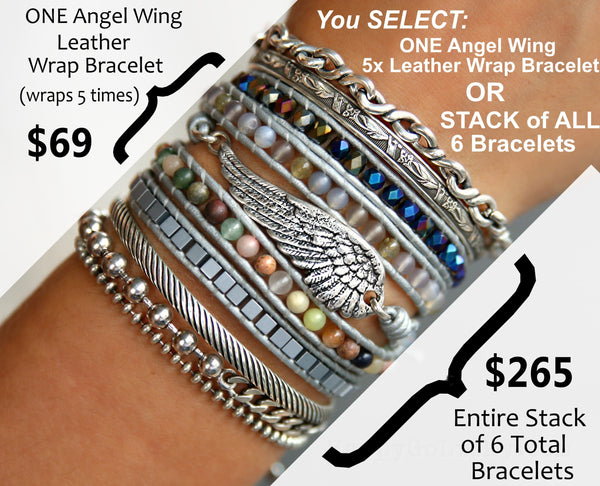 Sterling Silver Angel Wing Bracelet Boho Jewelry by HappyGoLicky Jewelry