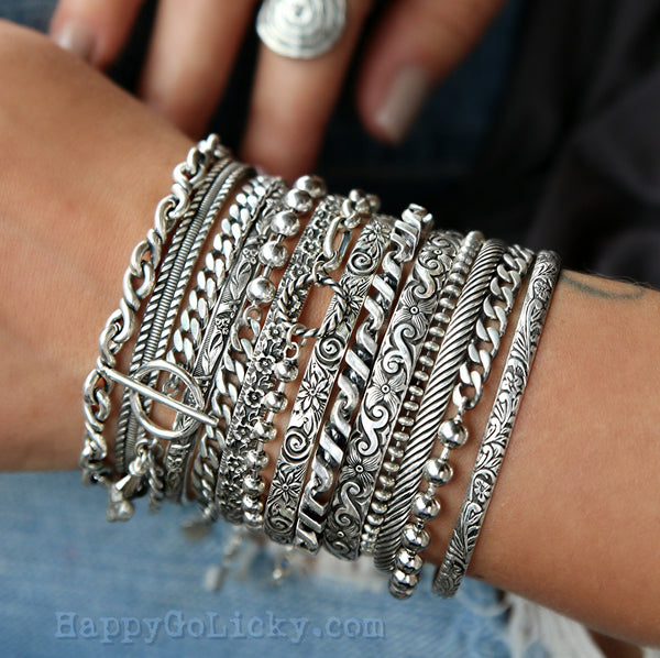 boho jewelry stacking bracelets by happygolicky jewelry
