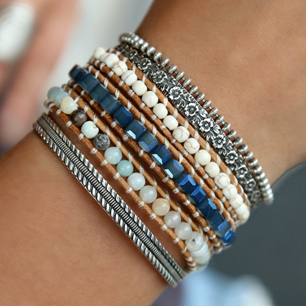 Blue Boho Wrap Bracelet by HappyGoLicky Jewelry