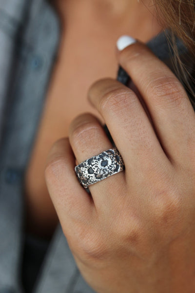 Handmade Bohemian Fashion Silver Ring - HappyGoLicky Jewelry