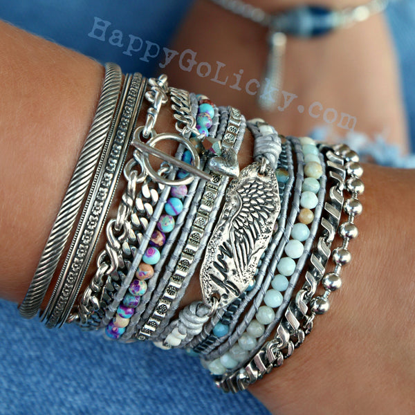 Boho Bracelets and Stacking Cuffs by HappyGoLicky Jewelry