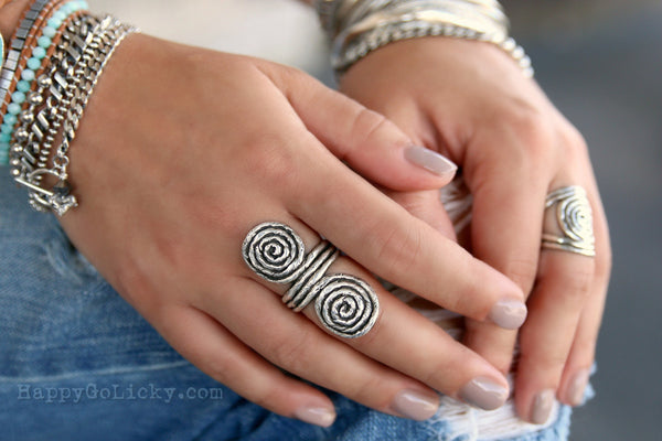 Best Boho Rings HappyGoLicky Jewelry Sterling Silver Ring