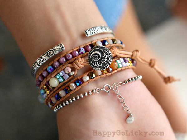Boho Wrap Beaded Bracelet by HappyGoLicky Jewelry