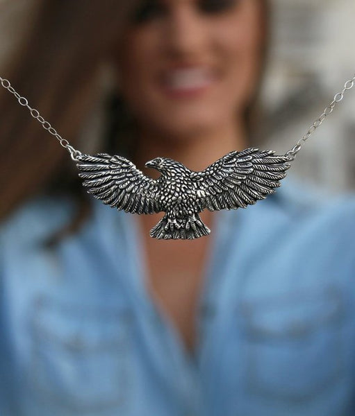 Flying Eagle Necklace - HappyGoLicky Jewelry