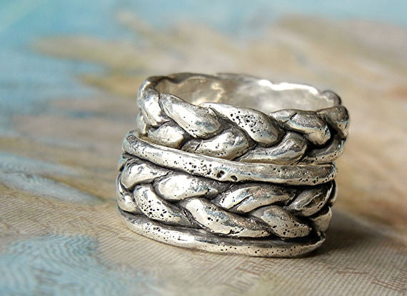 Braided Band Wedding Rings