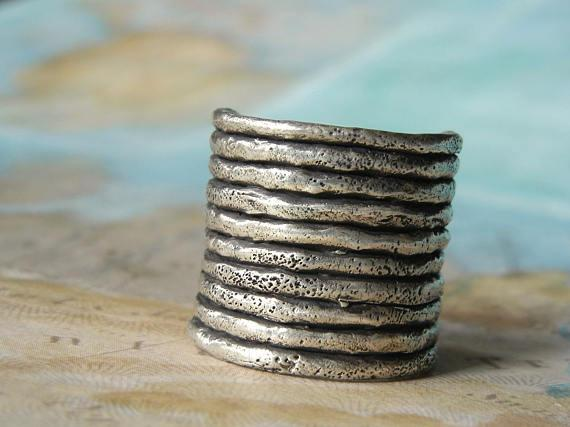 Sterling Silver Boho Stacker Rings by HappyGoLicky Jewelry