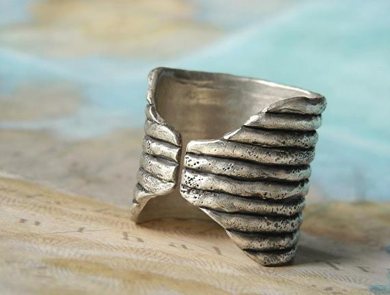 Boho Chic Sterling Silver Faux Stacker Rings by HappyGoLicky Jewelry