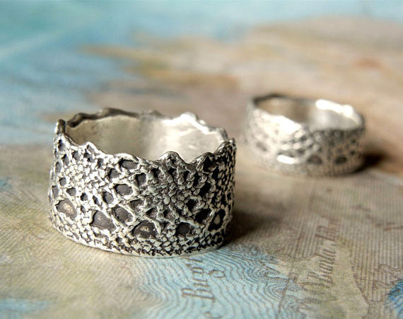 Boho Lace Sterling Silver Ring