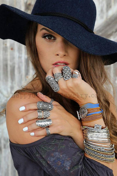 Boho Sterling Silver Statement Rings by HappyGoLicky Jewelry