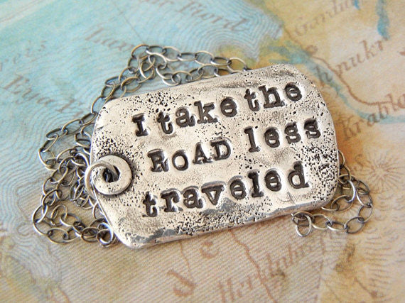 Road Less Traveled Gift Necklace