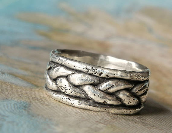 Boho Sterling Silver Thumb Ring - HappyGoLicky Jewelry