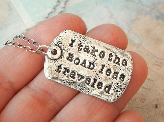 Road Less Traveled Gift Necklace - HappyGoLicky Jewelry
