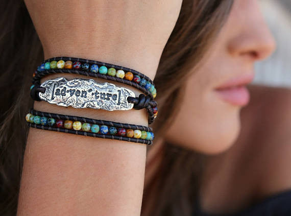 Adventure Modern Hippie Leather Wrap Bracelet