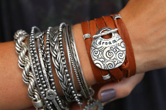 Bohemian 5x Leather Wrap Bracelet