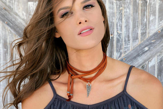 Bohemian Leather Choker - HappyGoLicky Jewelry