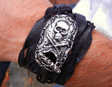 Men's Skull Belt Buckle Bracelet