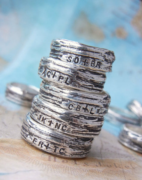 Rustic Bark Sterling Silver Ring