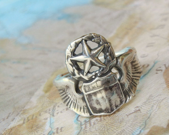 Pilot Wings Ring - HappyGoLicky Jewelry
