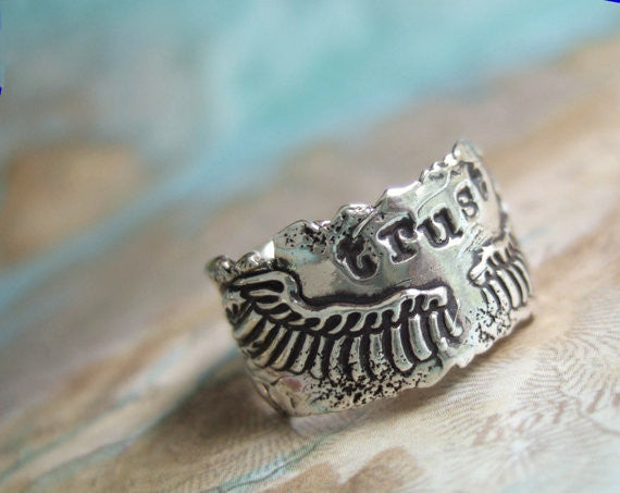 Rustic Wings Trust Ring