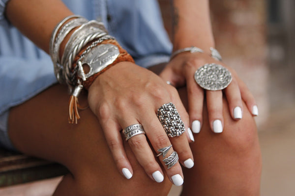 Sterling Silver Midi Ring - HappyGoLicky Jewelry