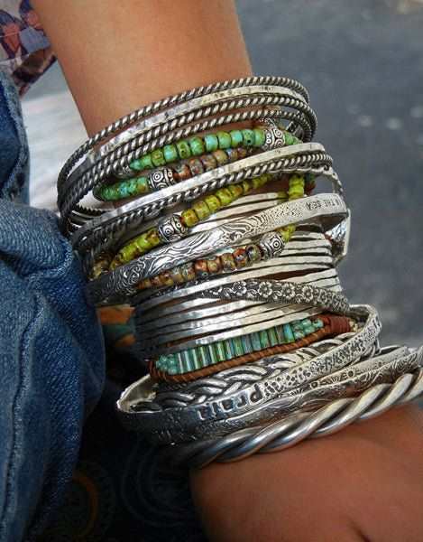 Boho Jewelry Cuff Stacking Bracelets