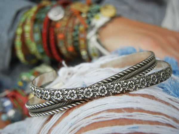 Boho Jewelry Cuff Stacking Bracelets - HappyGoLicky Jewelry