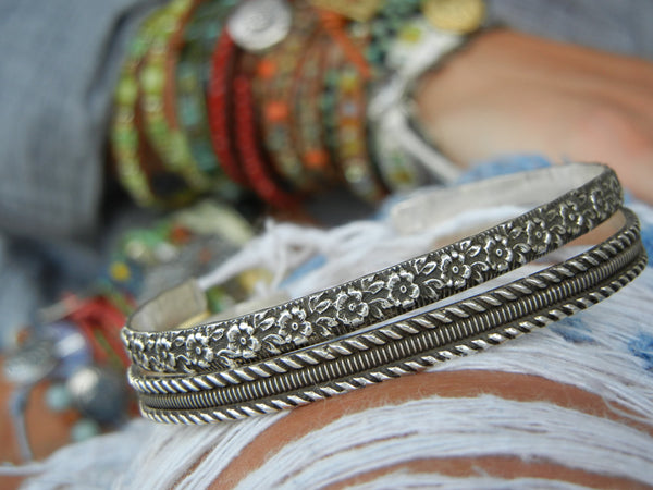 Boho Cuff Stacking Bracelets - HappyGoLicky Jewelry