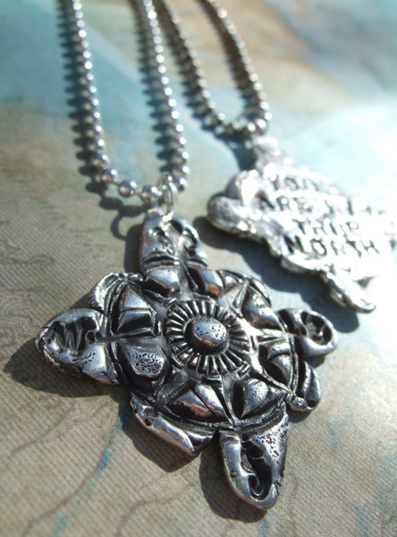 You Are My True North Handmade Compass Necklace